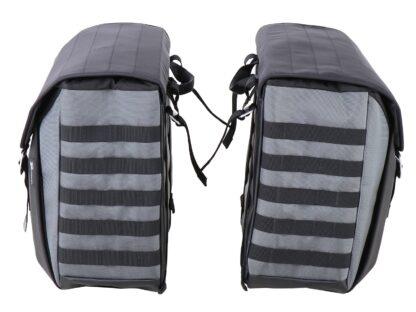 Juego de maletas blandas con soporte universal para motos